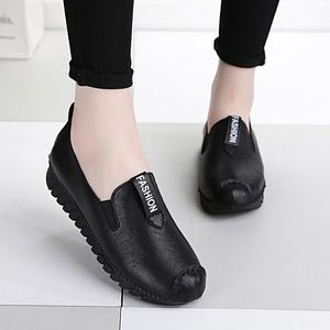 European super soft foot protection leather shoes
