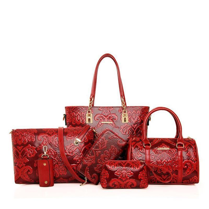 British retro classic six-piece set of lady bags - onekfashion