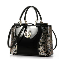 Load image into Gallery viewer, 2020 Trend Glossy Openwork Pattern Leather Bag Handbags