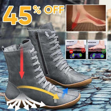 Load image into Gallery viewer, Braided Strap Flat Heel All Season Boots