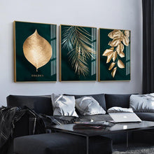 Load image into Gallery viewer, Nordic Decoration Golden Leaf Canvas Painting