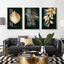 Load image into Gallery viewer, Newest style-Nordic Decoration Golden Leaf Canvas Painting