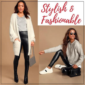 Stretch-Fit Faux Leather