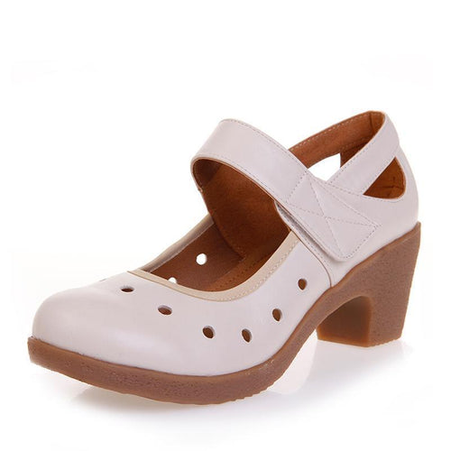 Ladies genuine leather shoes - onekfashion