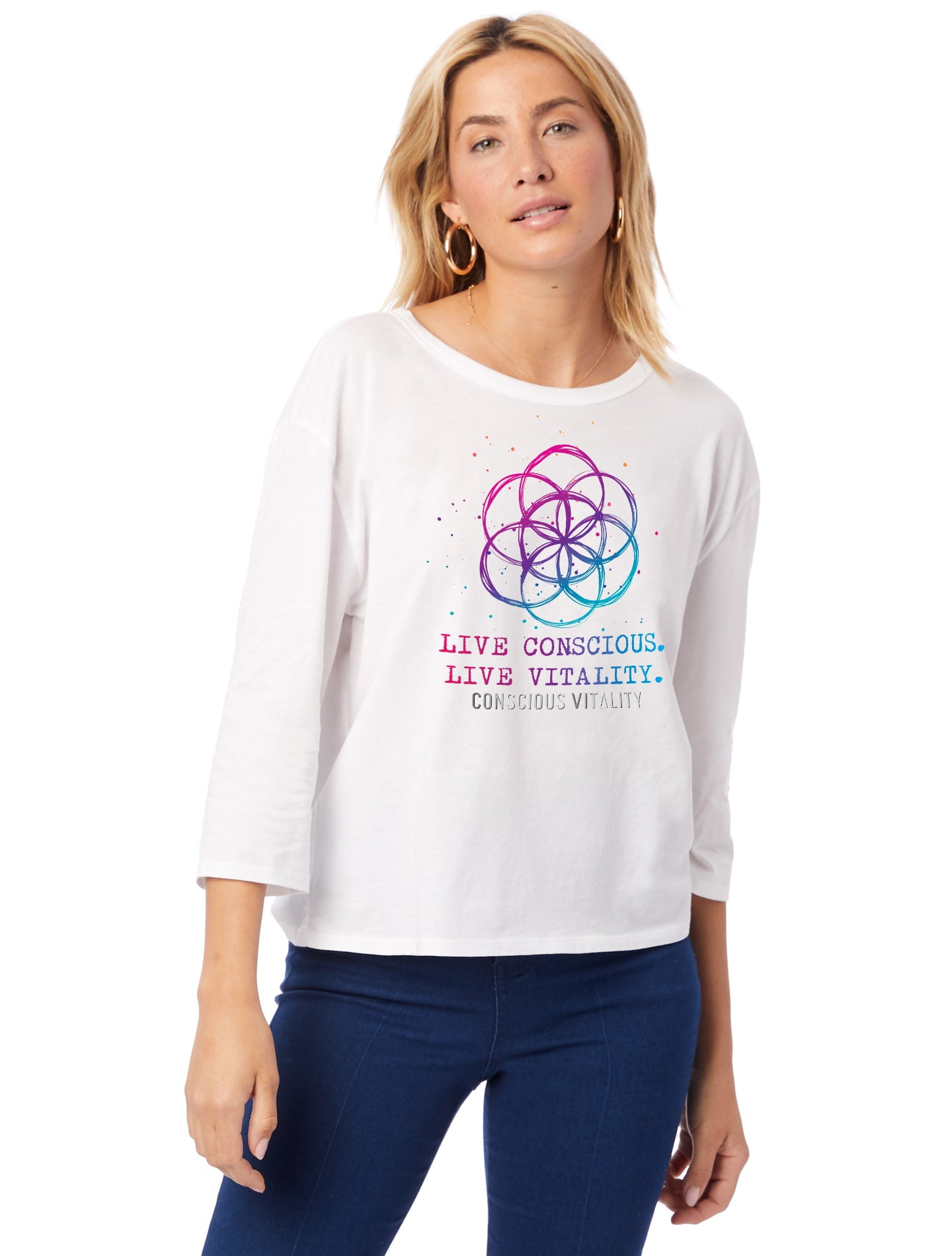 Women's Flower of Life - 100% Organic Cotton