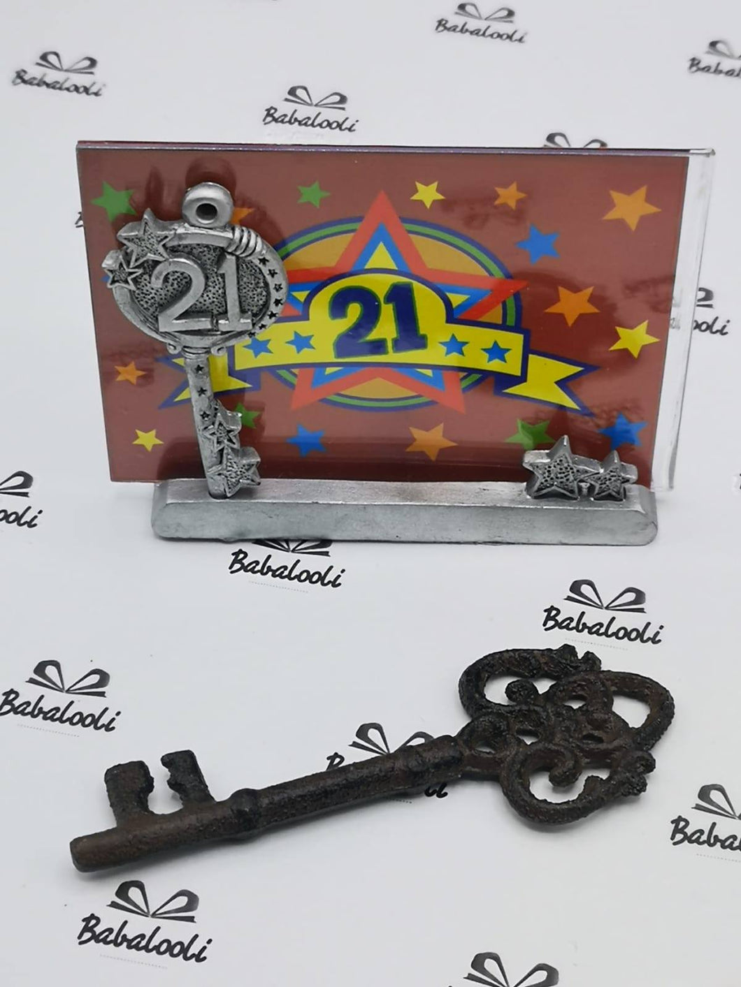 Novelty Cast Iron Key & Free Frame
