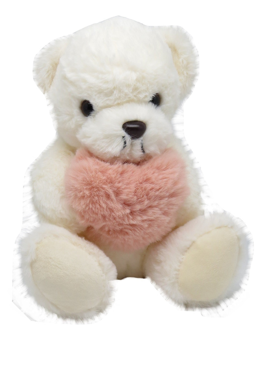 Plush Teddy Bear with Pink Heart