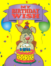 Load image into Gallery viewer, Personalized Birthday Book  My Birthday Wish