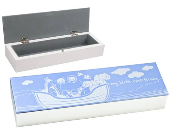 Baby Certificate box holder