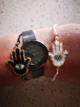 Load image into Gallery viewer, Miyuki beaded Hamsa Hand Bracelet