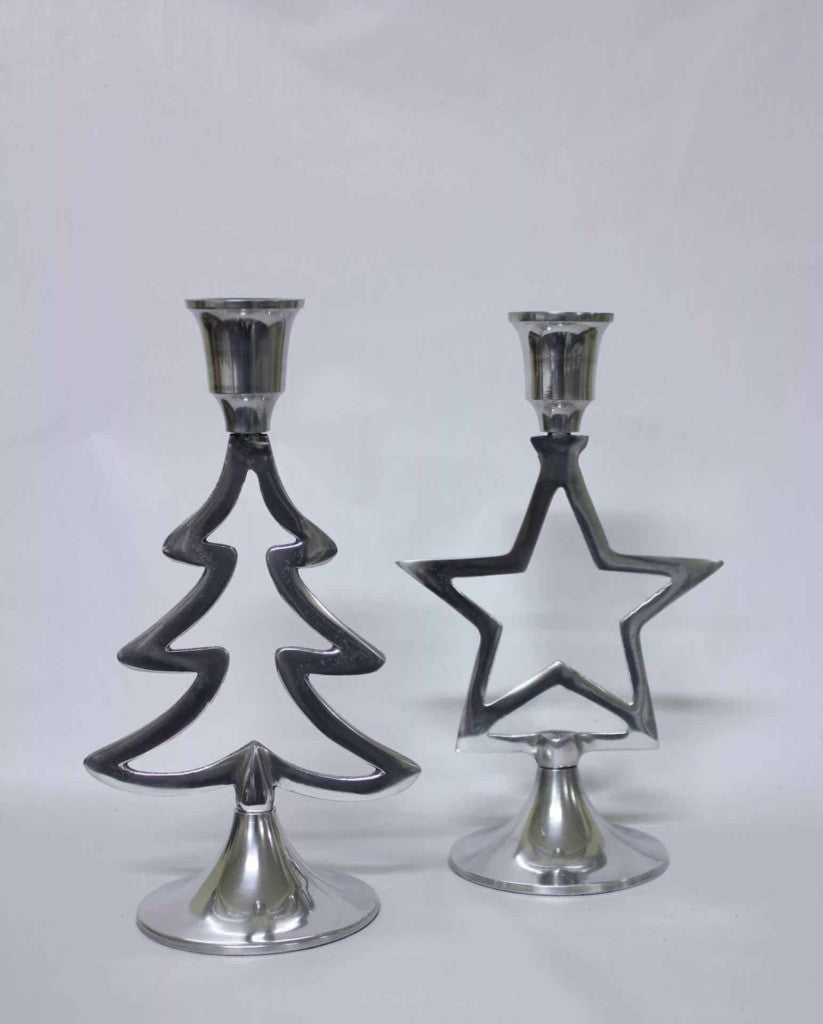 Candle Holder Star & Tree