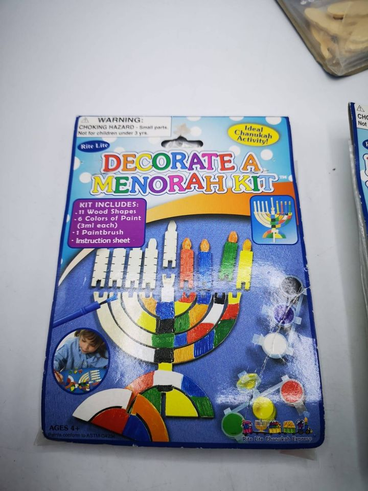 Decorate a Draydel / Menorah  Kit