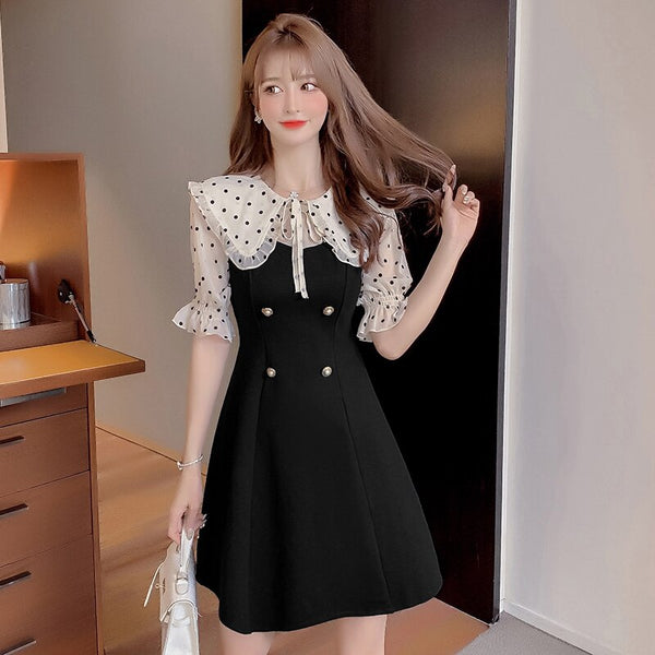 Dot Cottagecore Dress - Yui