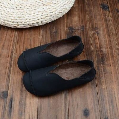 Artificial Leather Cottagecore Shoes - Stephanie