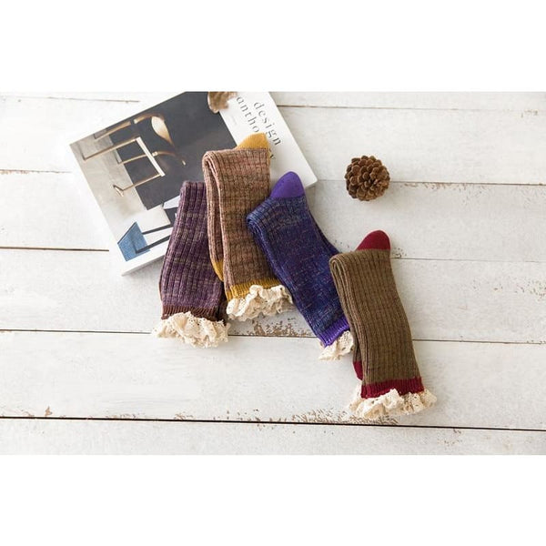 Autumn Cottagecore Socks - Kimberly