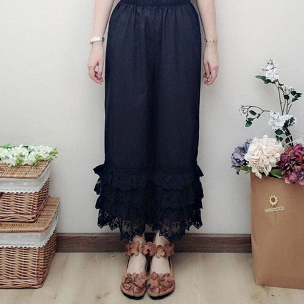 Black Cottagecore Pants - Ene