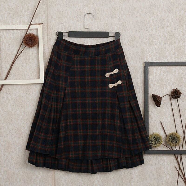 Black Cottagecore Skirt - Olga