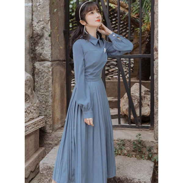 Blue Cottagecore Dress - Marina