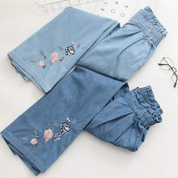 Blue Cottagecore Pants - Kristina