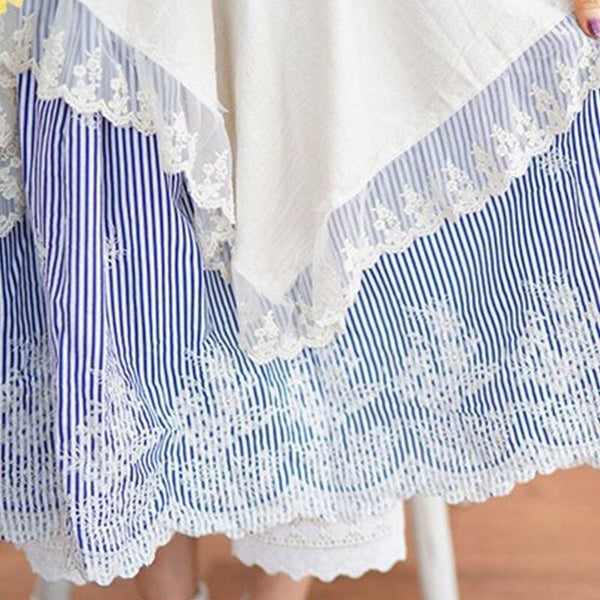Blue Cottagecore Skirt - Danielle
