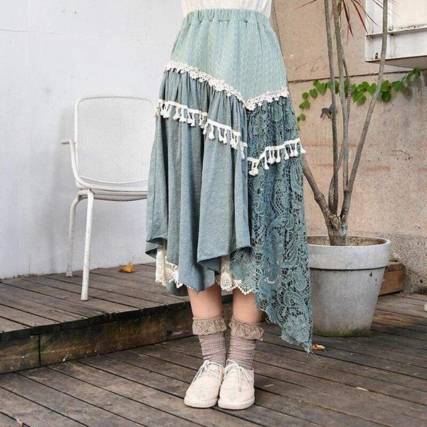 Boho Cottagecore Skirt - Yoshida