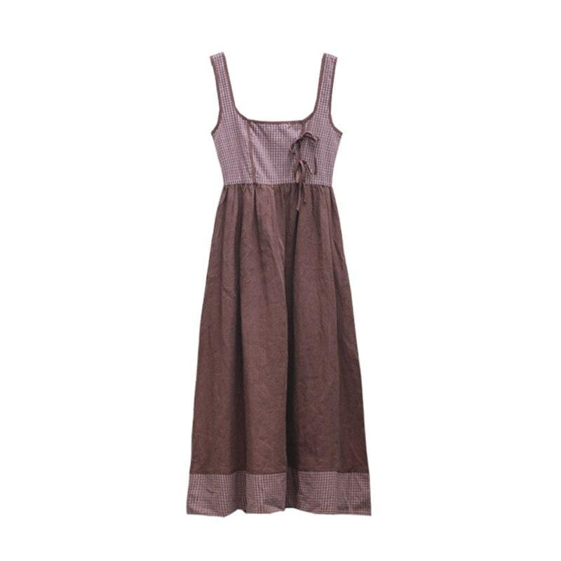 Brown Cottagecore Dress - Aoyama