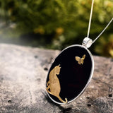 Cat & Butterfly Cottagecore Pendant - Diane