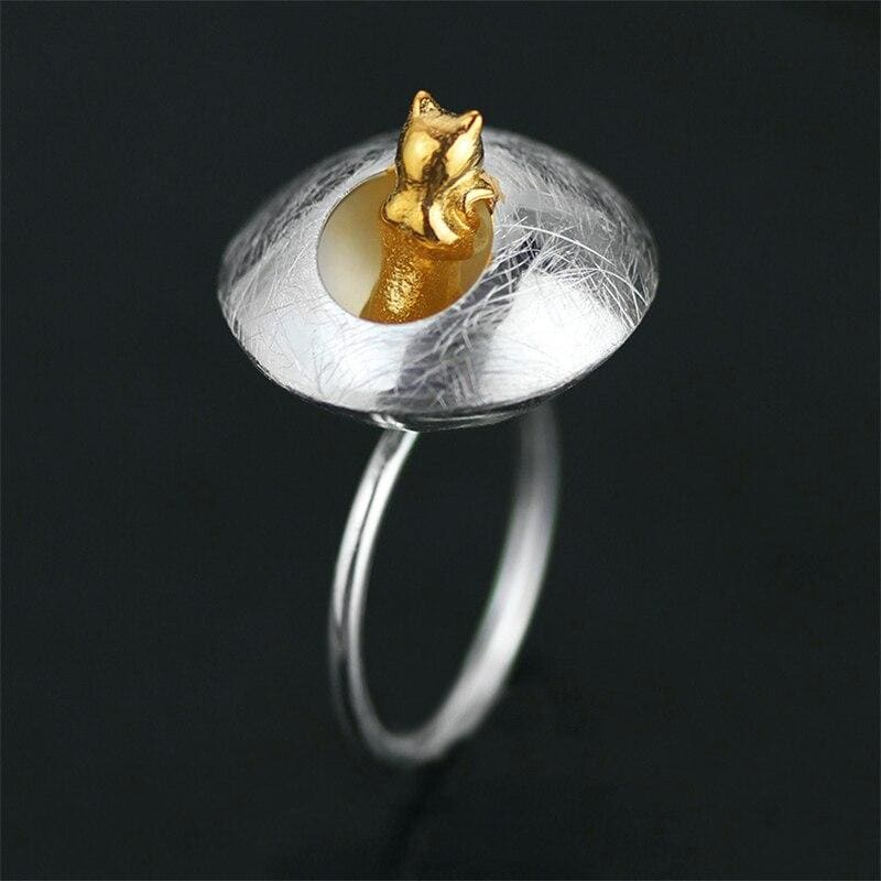 Cat Cottagecore Ring - Samantha