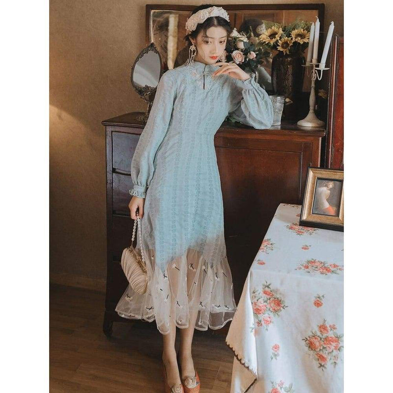 Cottagecore Blue Dress - Hamada