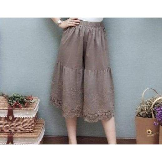 Cottagecore Brown Pants - Saito