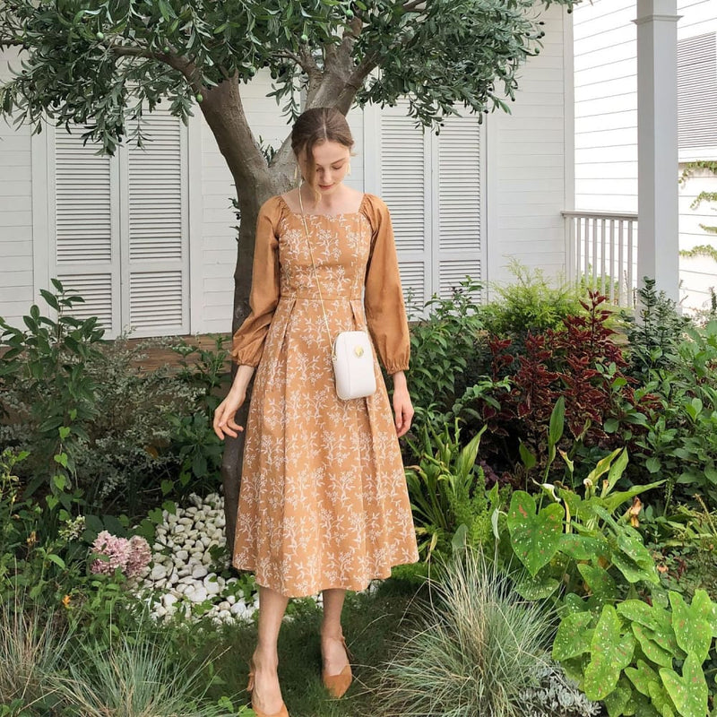 Cottagecore Coffee Dress - Amy