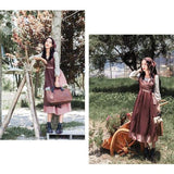 Cottagecore Dress Fall - Hanna