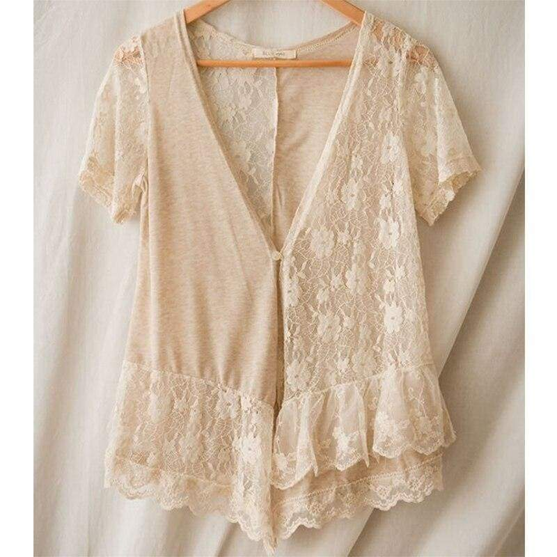 Cottagecore Shirt Beige - Taylor