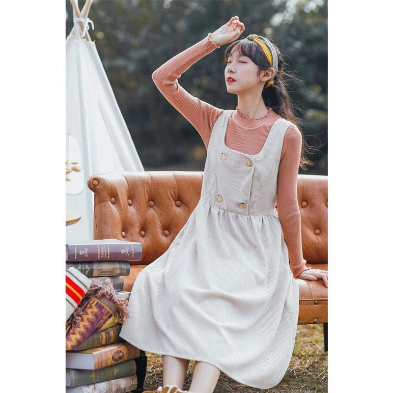 Cottagecore White Dress - Courtney