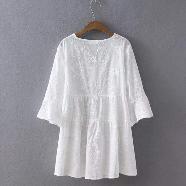 Cottagecore White Shirt - Ljudmila