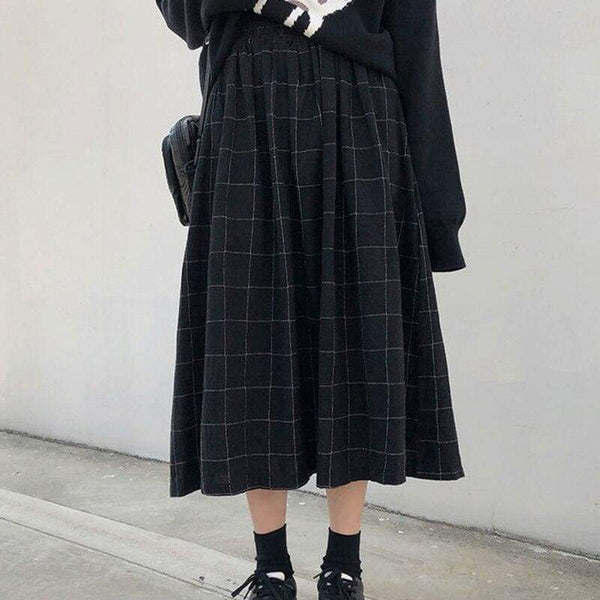 Dark Academia Cottagecore Skirt - Hirokawa