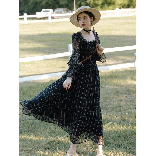 Dark Cottagecore Dress - Linda