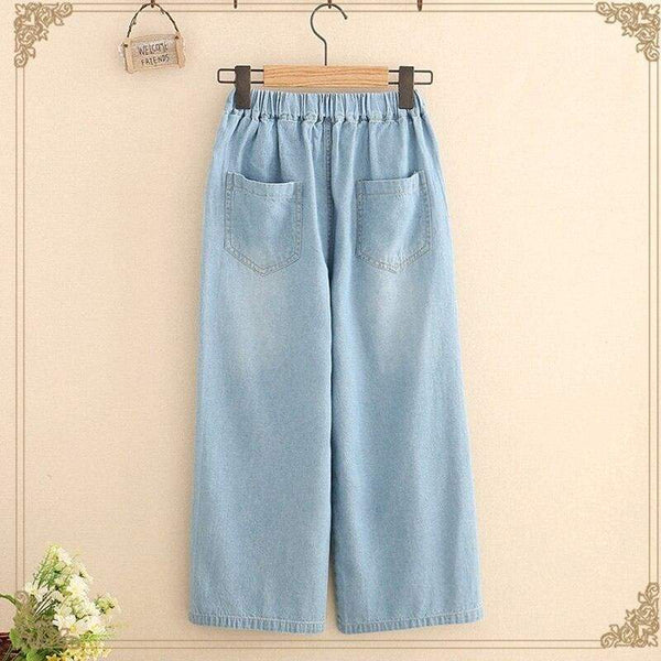 Denim Cottagecore Pants - Tatiana