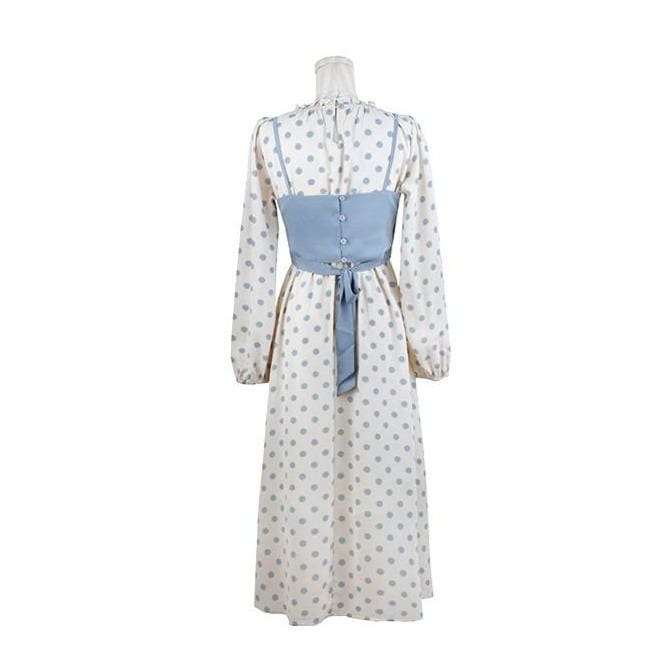 Dot Cottagecore Dress - Rose