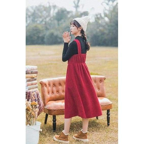 Fairy Cottagecore Red Dress - Kondo