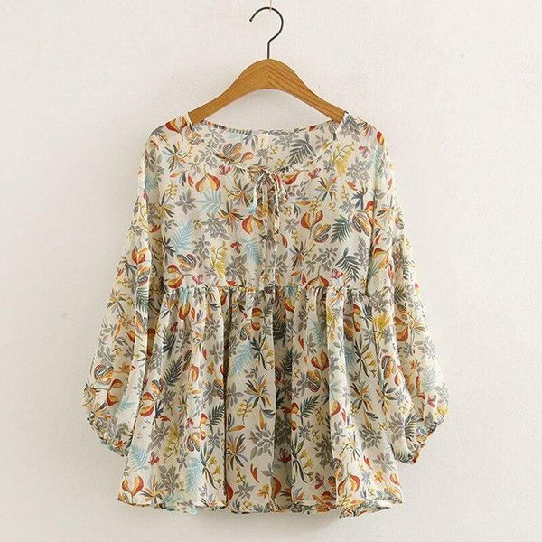 Floral Cottagecore Shirt Summer - Elena