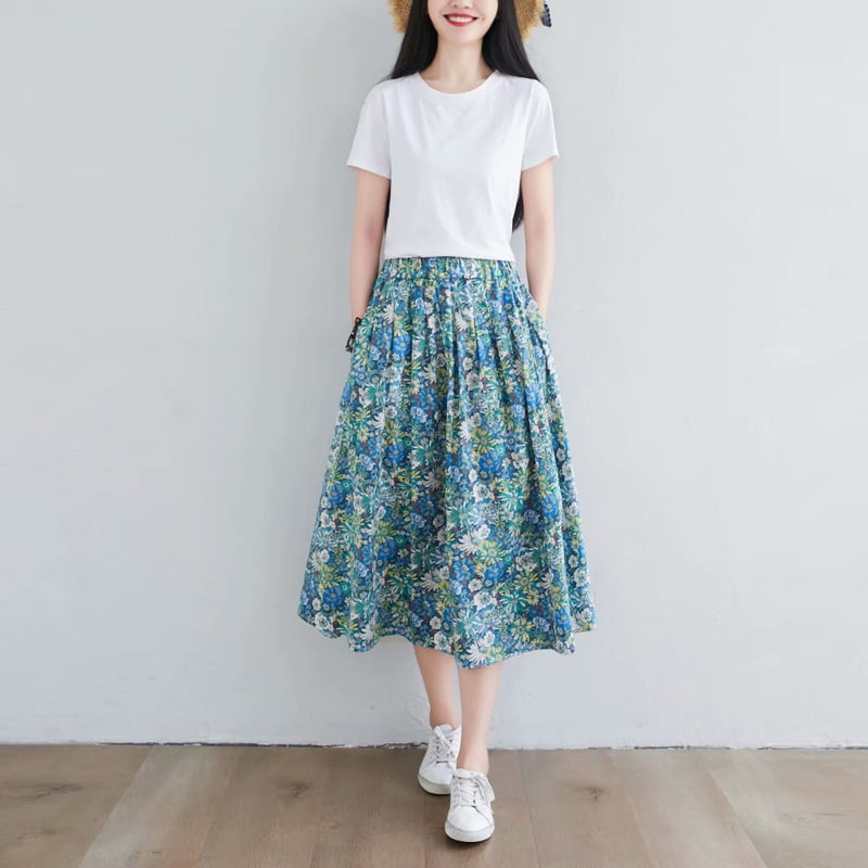 Floral Cottagecore Skirt - Vanessa