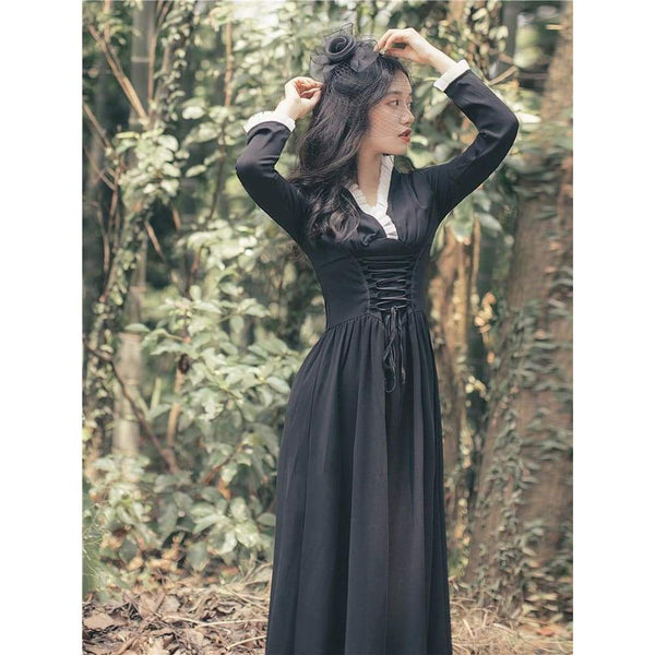 Goth Cottagecore Dress - Mare