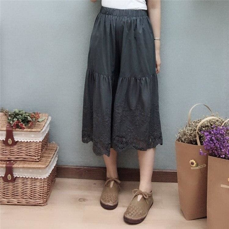 Gray Cottagecore Pants - Natalia