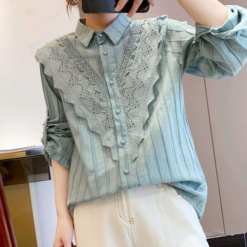 Green Cottagecore Shirt - Rachel