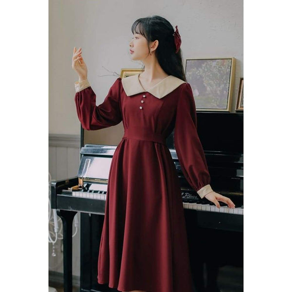 Red Cottagecore Dress - Harada