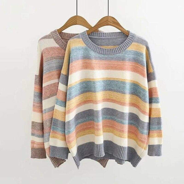 Striped Cottagecore Sweater - Glenda