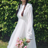 White Cottagecore Dress Outfit - Viktoria