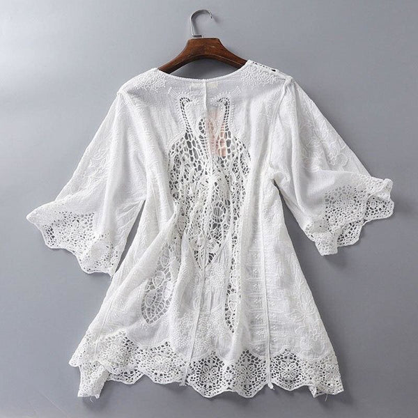White Cottagecore Shirt - Elena