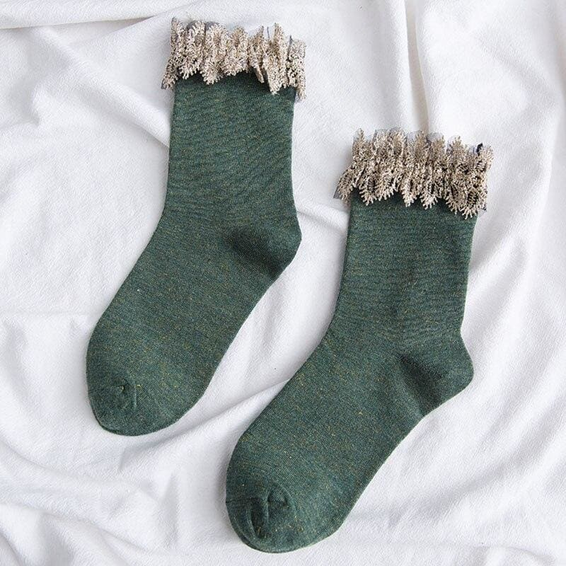 Winter Cottagecore Socks - Miki